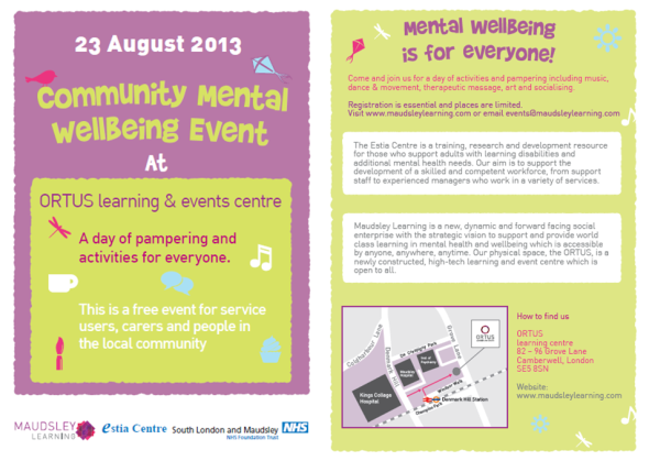 Community Wellbeing Event - 23 August