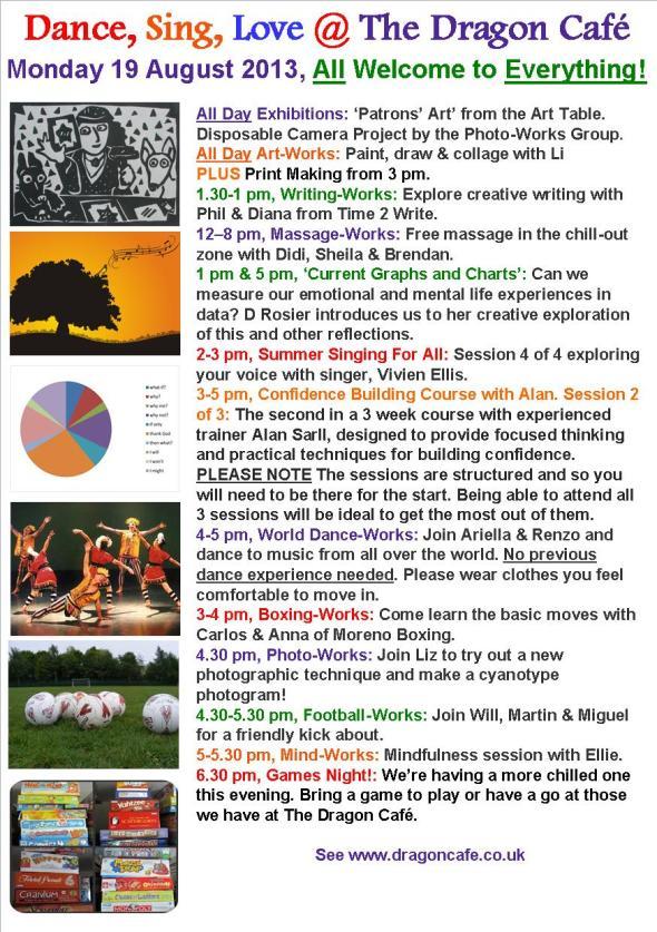 DC Programme- Monday 19 August 2013