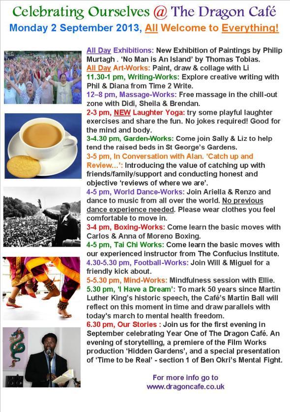 DC Programme- Monday 2 September 2013