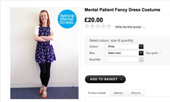 mental patient fancy dress costume