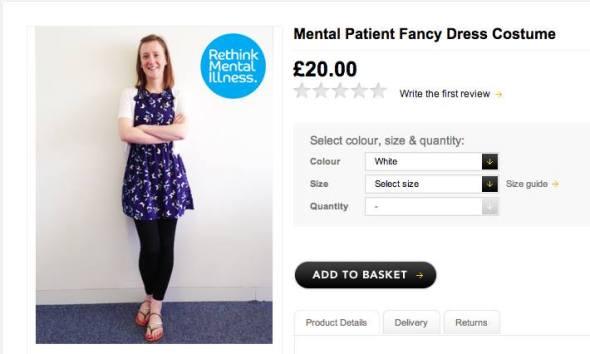 mental patient fancy dress costume
