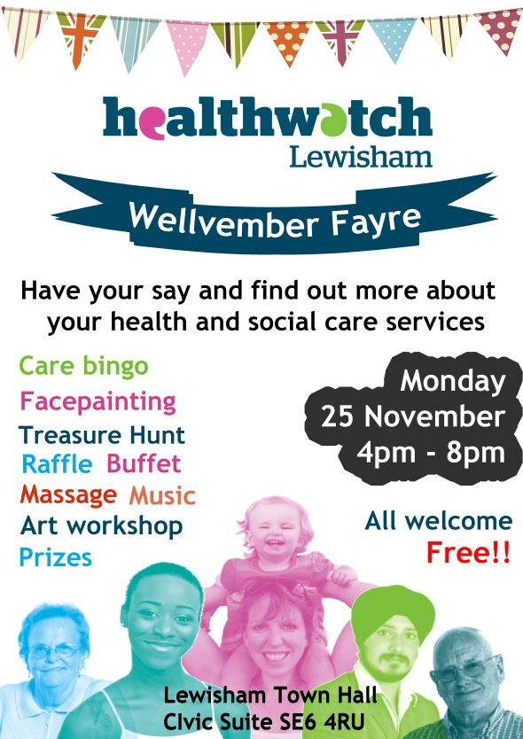 Healthwatch fair with people image