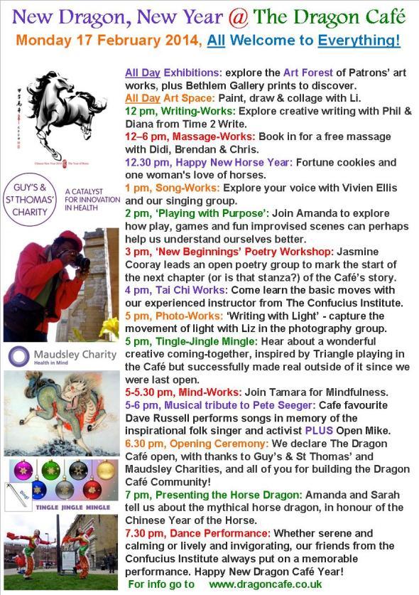DC Programme- Monday 17 February 2014