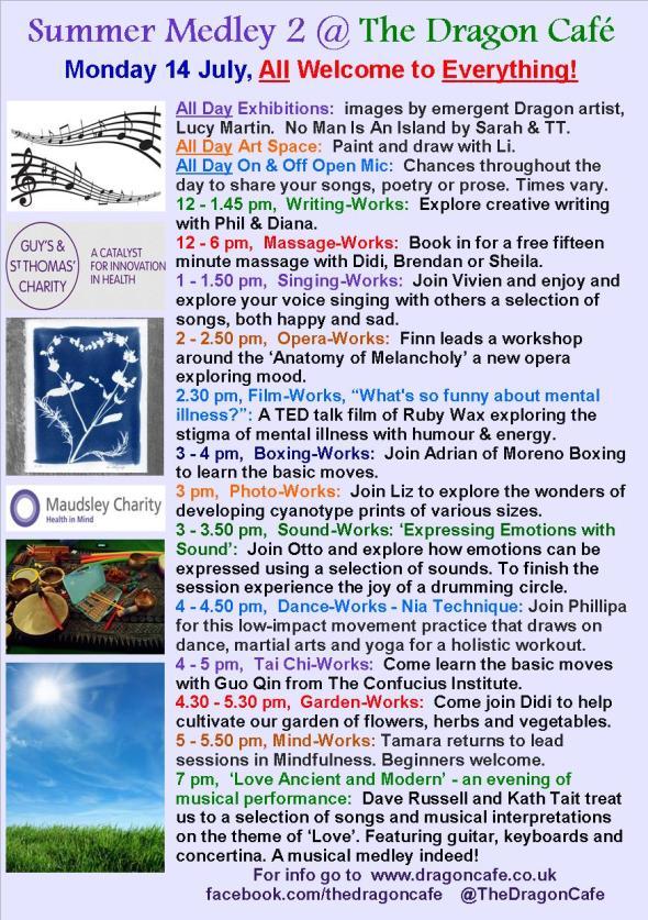 DC Programme- Monday 14 July 2014